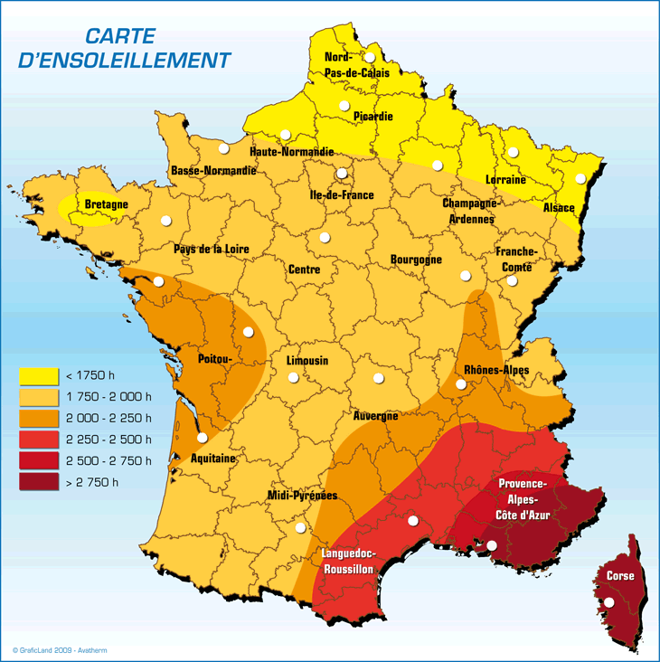 carte energie solaire france