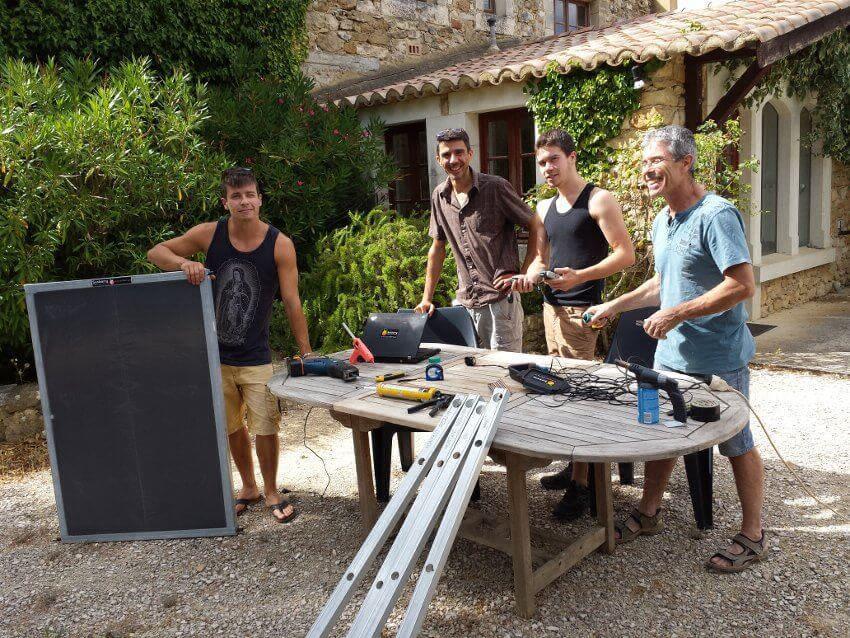Fabrication d'un panneau solaire