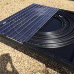 Panneau solaire tuyau noir enroulé