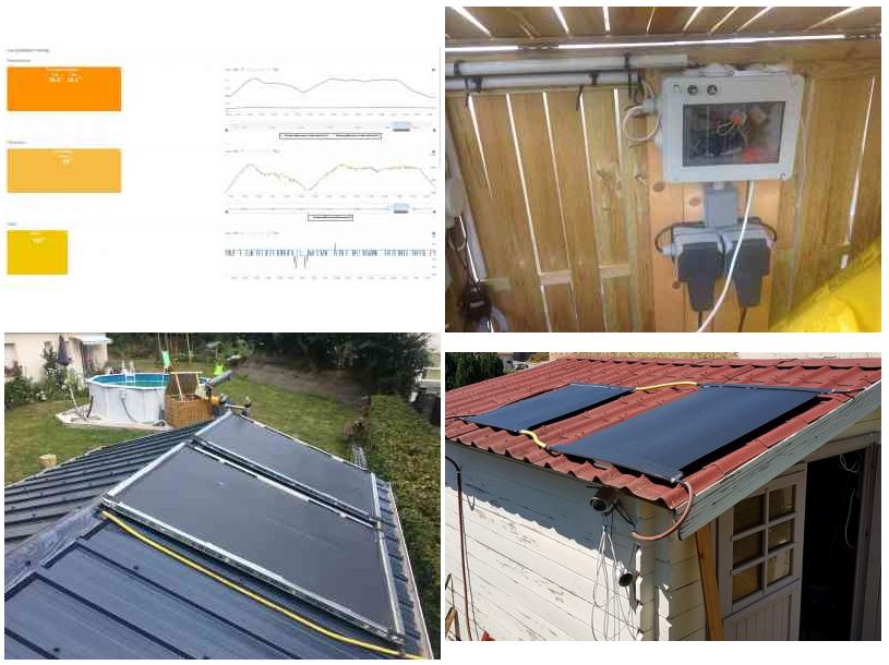 Exemples de réalisation de chauffages solaire de piscine
