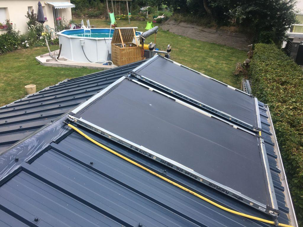 Panneaux solaires pour piscine hors sol auto-construits